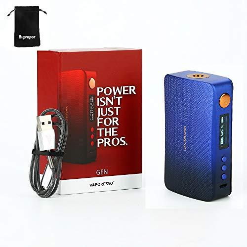 E Cigarette Vaporesso GEN 220W TC Box MOD con 0.91 'Pantalla OLED Power Modo ECO Modo DIY sin nicotina (Azul)