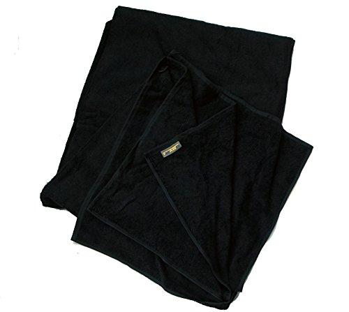 FelAWie XXL Strandtuch – Handtuch in Übergröße in der Farbe schwarz (100 x 220, schwarz)