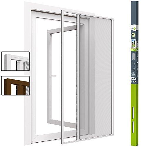 easy life Insektenschutz-Rollo für Türen 160 x 220 cm Schiebetür in Weiß Fliegengitter-Rollo Alu + Fiberglas kürzbar