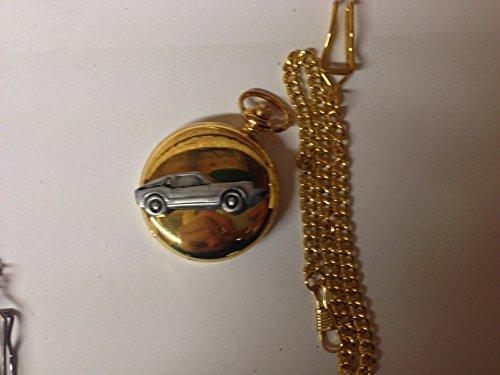 Saab Sonette 2 ref217 auto stemma in peltro effetto lucido, colore: oro su una custodia regalo orologio da taschino al quarzo, made in sheffield