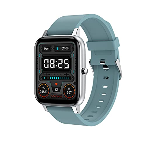 XXH Smart Watch H80 Bluetooth Reloj Impermeable Ejercicio Ritmo cardíaco Fitness Tracker 1.69 Pulgadas Pantalla táctil DTX para iOS Teléfono Android,B