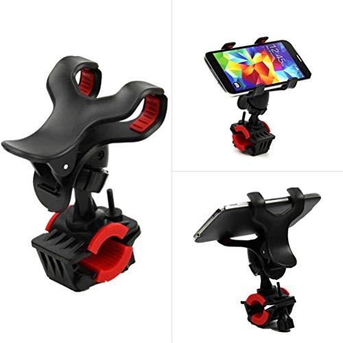 Mgsiko Soporte de teléfono móvil para bicicleta, ajustable 360°, universal para moto, para teléfono móvil, GPS, soporte para teléfono móvil