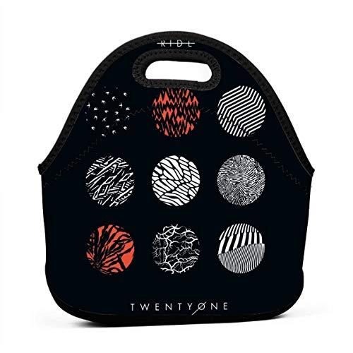 Ophelia Cornell 21 Blurryface Pilots Lunch Bag Portable Thermal Cooler Lunchbox Waterproof Outdoor School Work Handbag