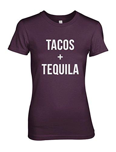 Tacos Tequila Komisch Cool Food Party Damen T-Shirt Lila Medium