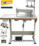 Yamata Industrial Sewing Machine FY-8700 Lockstitch Sewing Machine with Servo Motor + Table Stand +...
