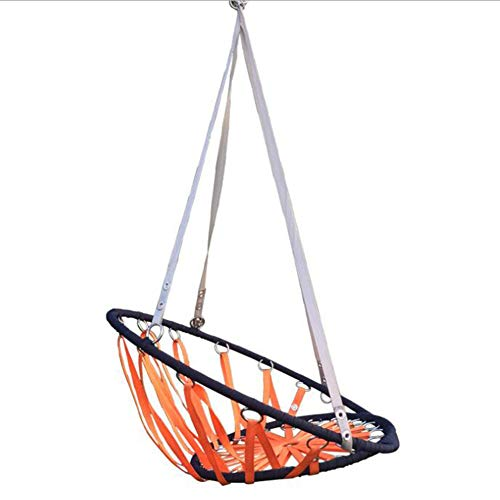 M/P Hammock Chair Nordic Hanging Swing Chair Seat for Indoor and Outdoor, Home and Garden, Nylon Braid Hanging Basket, Thickened and Strong, Capacity 350 Lbs