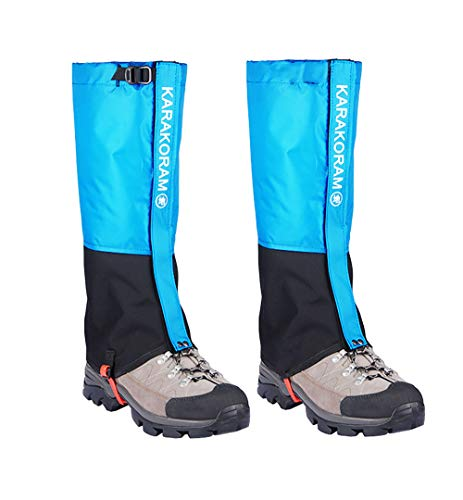 Hidewalker Polainas Impermeables Transpirables Y Antipicaduras para Esquí Acampada Caza Senderismo Y Escalada Montaña Polainas (Azul, M(41-43))
