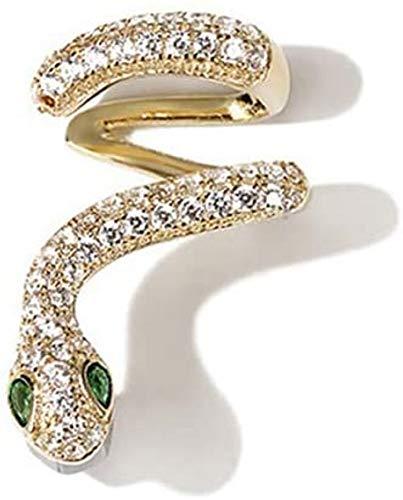 Unda118 Jewelry Snake Climbers Earrings for Women,Sparkling Charming Zircon Snake Green Eyes Stud Earring