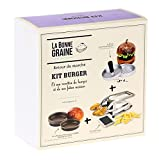 Louis Tellier – Kit Burger (1 prensa de carne picada, 4 moldes para pan, 1 cortador de patatas) La Bonne Semine