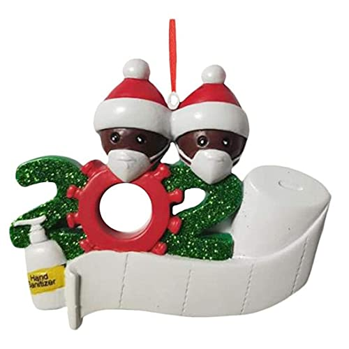 Navidad Ornamento Creativo 2020 Árbol de Navidad Decoración de la Colgante de Navidad Colgante Personalizado (2 Personas) Party Home Supplies