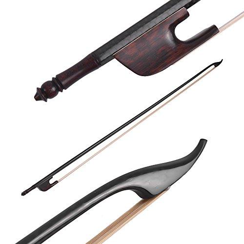 Muslady 4/4 Arco Violín Fiddle Estilo Barroco Fibra de Carbon Round Stick Rana...