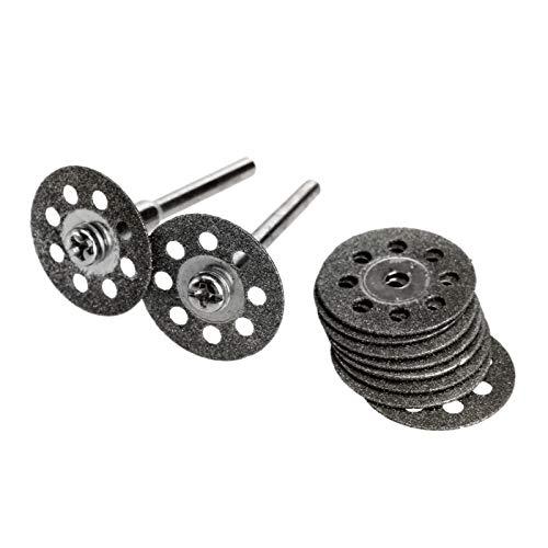 F-MINGNIAN-TOOL, 10Pc 20mm Snijschijf Slijpen Wiel Schijf Mini Circulaire Zaag Voor Dremel Rotary Tool Snijden Steen Glas Metaal