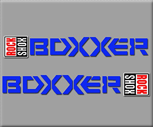 Ecoshirt 26-H9WZ-HR7W Stickers Rocksox Boxxer R223 Autocollants Autocollants Bleu