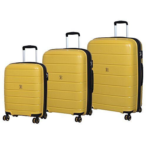 it luggage 3 Piece Set of Asteroid 8 Wheel Hard Shell Expander Suitacses Suitcase, 75 cm, 325 liters,Cheese Yellow