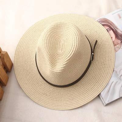 ZXL Hoed voor dames, zomerhoed, klassiek, zwart, girdle, panama, jazz, hoed, strand, hoed voor vrouwen 3