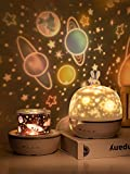 AOCHEN Fancy 8 Films Moonlgiht Bunny Night Light Kids Projector Lamp for Children