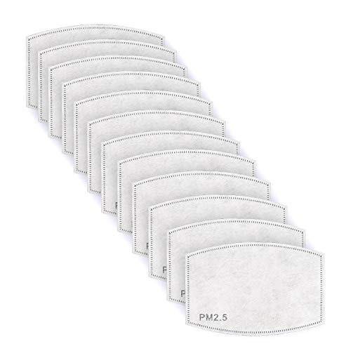 Travelers Club 12 Piece 2.5 PPM 5-Layer Activated Carbon Filters for Reusable Masks, White, Standard