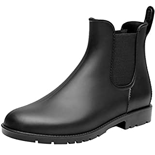 [MERPHINE] レインブーツ レインシューズ レディース メンズ 雨靴 園芸 ショート ブーツ 防水 シンプル サイドゴア ローヒール かわいい ラバーシューズ 台風 梅雨対策 通勤 痛くない 歩きやすい 軽量