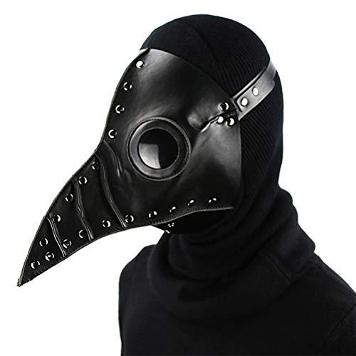 KKPLZZ Plague Doctor Mask , Trendige Pest Doctor Mask Steampunk Long Beak Vogelmaske Plague Doctor Kostümzubehör