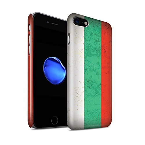 Glanzend telefoonhoesje voor Apple iPhone SE 2020 Europese vlag Bulgarije/Bulgaars ontwerp glanzend Ultra slank dun harde snapcover