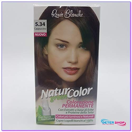 teinture pour les cheveux coloration permanent naturel natur color greenn 534 cappuccino