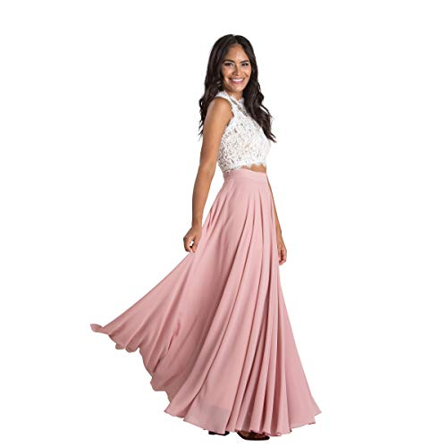 Women's Classic Flowy Maxi Skirt - Perfect for Engagements, Weddings, Any Special Occasions! Beautiful, Soft, and Elegant. Rose
