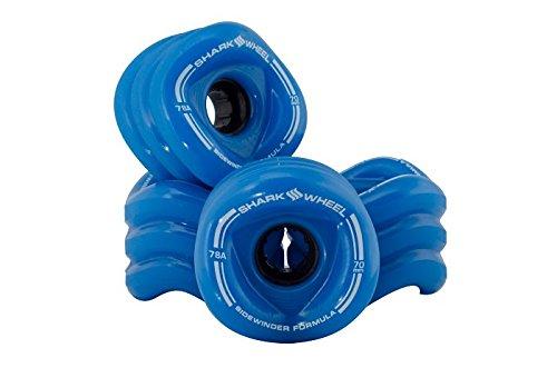Shark Wheel 70 mm 78a Longboard Wheels | Sidewinder | 4-Pack (Blue, 70mm)