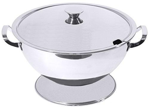Suppenterrine aus Edelstahl in mittelschwerer Qualität (ohne Deckel, bitte separat bestellen) / Inhalt: 1, 1,5, 2,5 oder 4 Liter | ERK (A3 - Inhalt: 2,5 Liter)