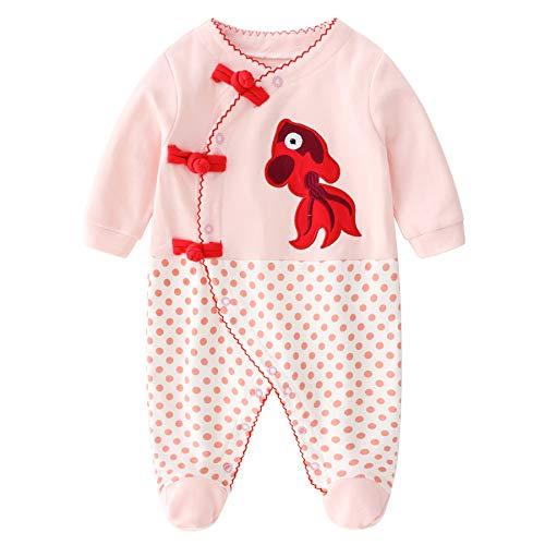 Bebé Niñas Mameluco Footies Mono Manga Larga Bodys Algodón Pijamas Pelele 3-6 Meses