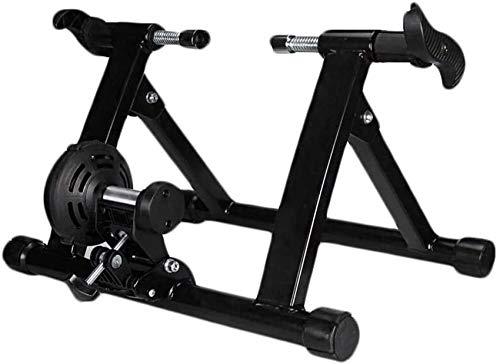Ancnan Bicicleta para el hogar Turbo Trainer, Magnetic Bike Turbo Trainer Soporte para Entrenador de Bicicleta para Interiores Soporte para Entrenador de Ejercicio Fijo Soporte para Bicicleta plega