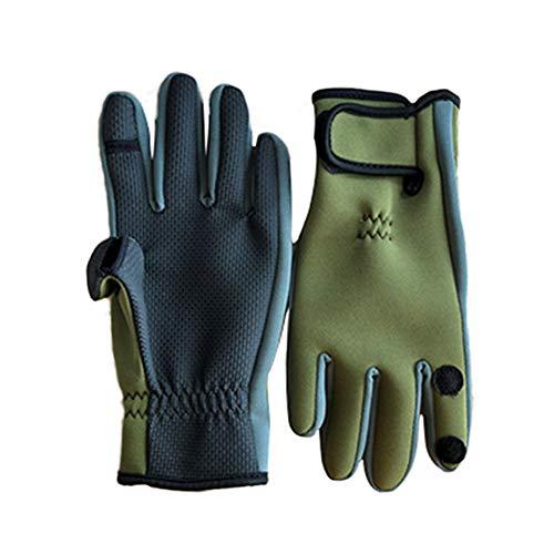 QLGRXWL - Guantes de pesca, con pantalla táctil de 3 dedos cortados, para pesca, esquí, motociclismo, senderismo, caza, ciclismo, ciclismo, B, M