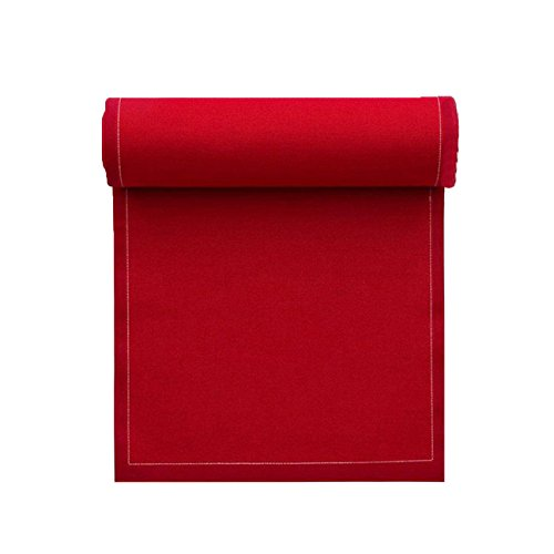 Serviette de table en coton 20x20cm - Idéale pour fête, anniversaire, cocktail - Rouleau de 25 serviettes - Rouge Carmin