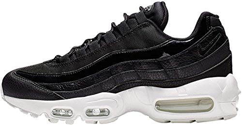 Nike Women's WMNS Air Max 95 Se Track & Field Shoes, Multicolour Black/Summit White/Platinum Tint 000, 4.5 UK