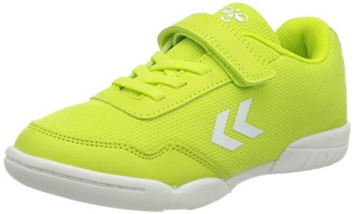 hummel Unisex-Kinder Sneaker, Grün(LIME PUNCH), 28 EU