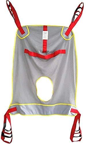 N\A AY Toileting Sling Patientenlift, Mesh-Bad Commode Patientenlifter Geteilte Bein Sling for den Transfer vom Bett in den Rollstuhl, Recliner (Color : Gray Mesh)