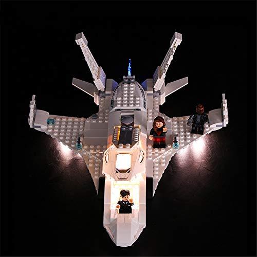 TMIL Conjunto De Iluminación LED Compatible con Lego 76130, Kit De Luz DIY para Jet Stark Y El Bloque De Construcción De Ataque Drone, Accesorios De Juguete (Solo Conjunto De Luz)