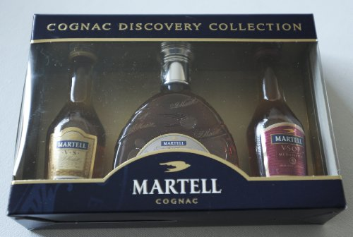 Martell Cognac Discovery Collection (cognac collection at its best), Martell Cognac Miniatures Collection VS, VSOP Medallion & XO Gift Pack 3x5cl