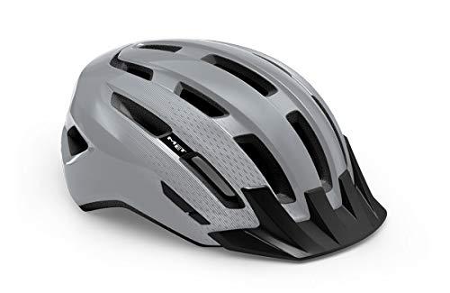 Met Active Downtown Allround - Casco de ciclismo (talla L), color gris