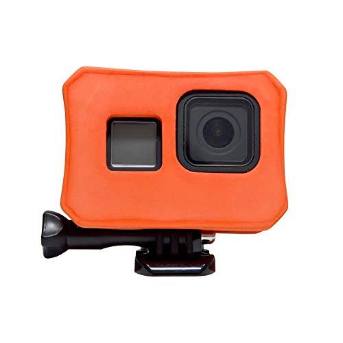 Float Case Cover für GoPro 8 - Floaty Housing Frame for GoPro Hero 8 Black Camera Floater Anti Sink Floating Zubehör for Water Sports - Orange