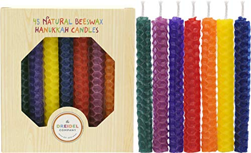 The Dreidel Company Hanukkah Candles Natural Honeycomb Beeswax - Multi-Color - 4.5'