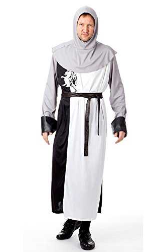 r-dessous Ritter Kostüm Herren Kreuzritter Mittelalter Chevalier Sir Lancelot Fasching Karneval Halloween Groesse: L/XL - 3