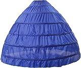 BEAUTELICATE Petticoat Reifrock Unterröcke Damen Lang Fur Brautkleid Hochzeitskleid Vintage Crinoline Underskirt., Königsblau, Einheitsgröße