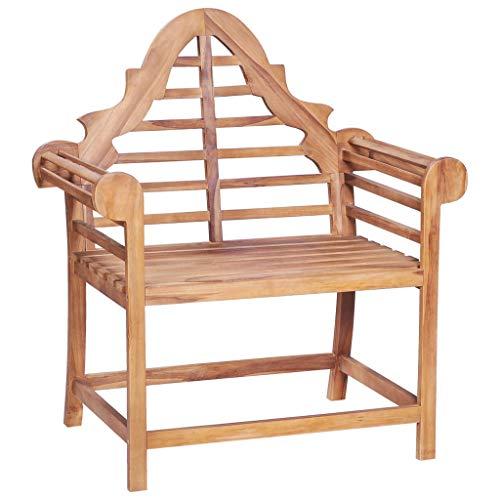 vidaXL Teak Massiv Marlboro Gartenstuhl Holzstuhl Gartensessel Stuhl Sessel