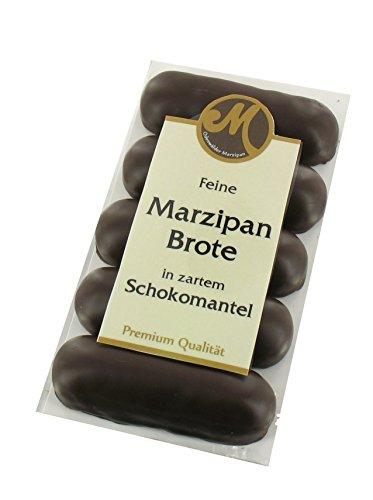 Odenwälder Marzipan Brote 5x25g, umhüllt mit Zartbitterschokolade