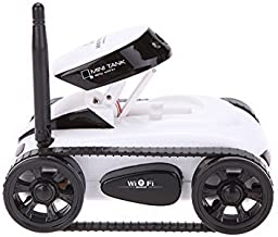 SmartEra ISPY Wifi Controlled Mini Wilreless Spy Tank Remote Control Car with Hd Camera (White).
