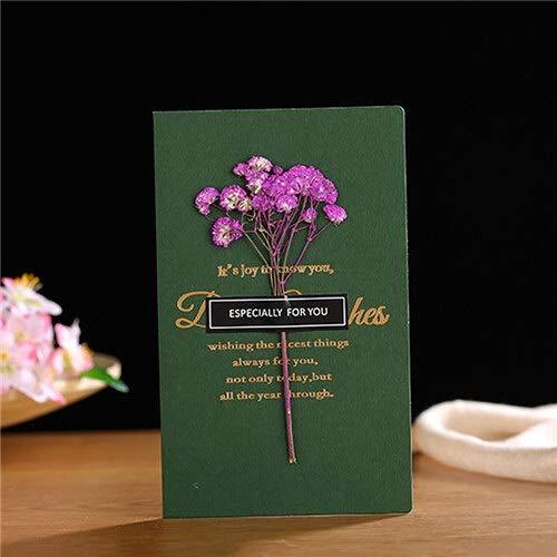 HKXR Gypsophila Flores Tarjetas de felicitación for cumpleaños Invitaciones de la Boda del Regalo del día de San Valentín Suministros de Scrapbooking Decoración (Color : B 3)