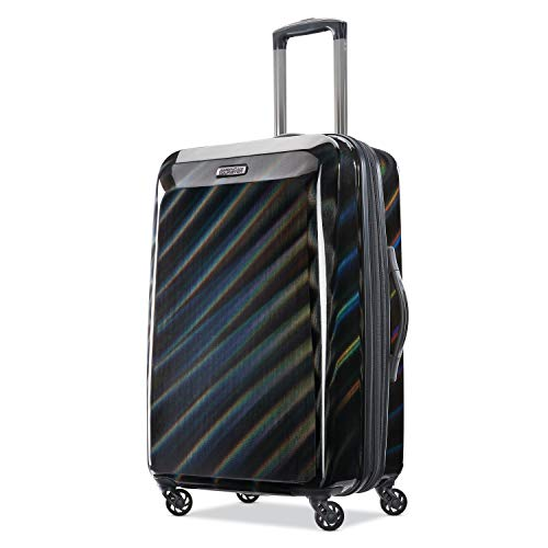 American Tourister Checked-Medium, Iridescent Black