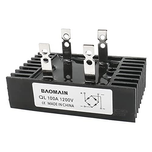 Baomain 100A Amp 1200V Volt Diode Bridge Rectifier Metal QL100A