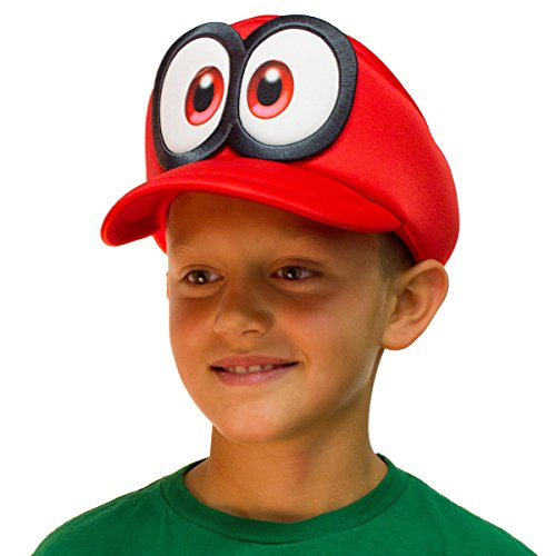 Bioworld Super Mario Odyssey Cappy Hat Kids Cosplay Accessory Red