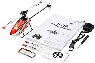 Aoile for XK K110 Brushless RC Helicopter RTF / BNF for Kids Children Funny Toys Gift RC Drones Outdoor K110 Without Remote Control